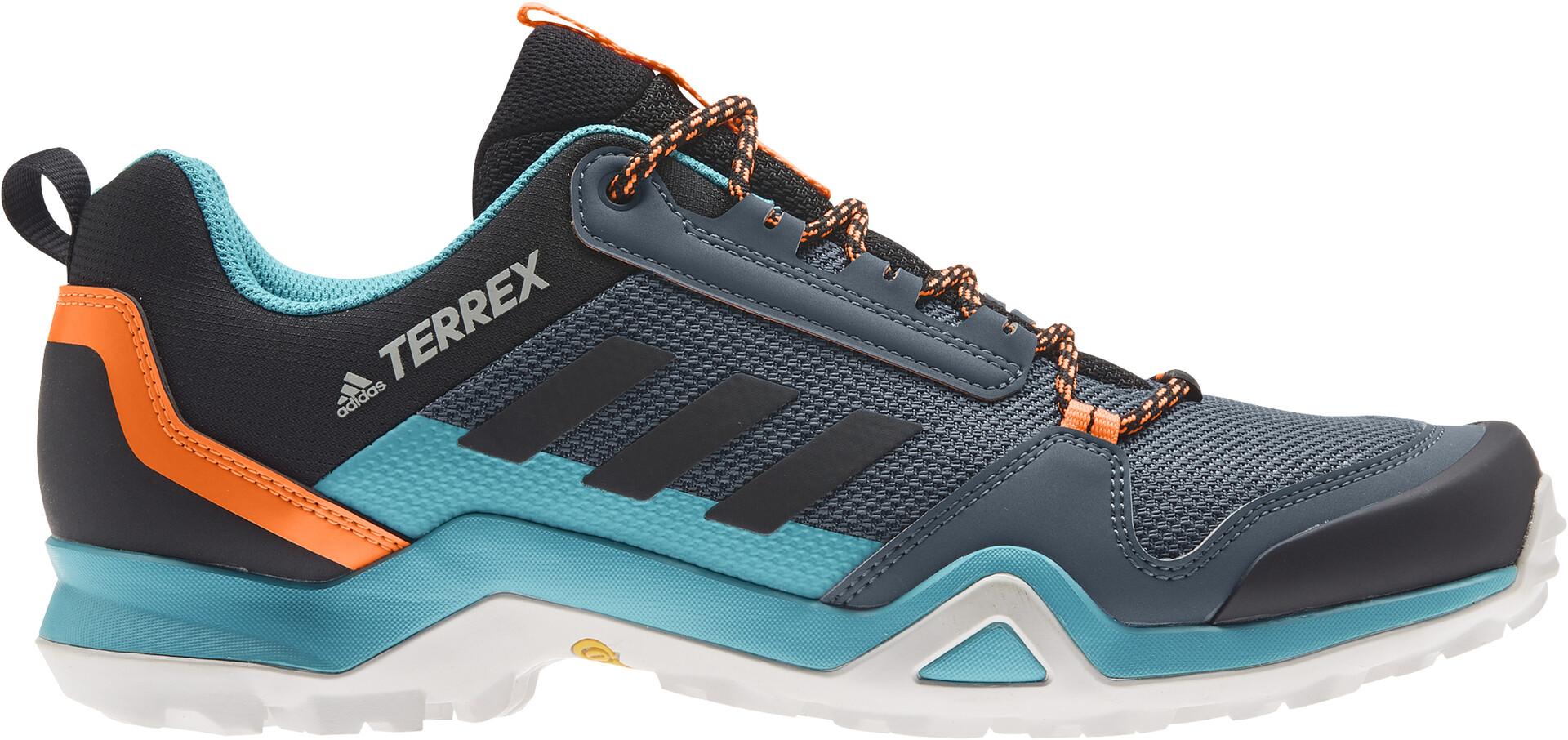adidas TERREX AX3 Wanderschuhe Herren legacy bluecore blacksignal orange